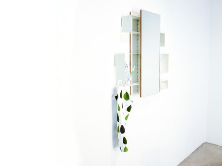 mirror cabinet with five storage compartments