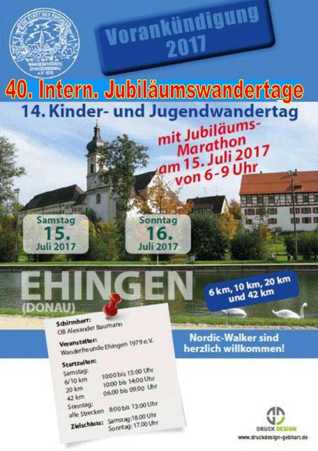 """Vorankündigung des """"Jubiläums"""" im Wanderjahr 2017"""