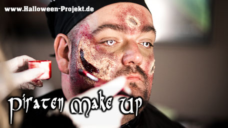 Halloween Piraten Make up, So wurden wir zu den Pirates of Halloween, Halloween-Projekt Lüneburg / Deutsch Evern