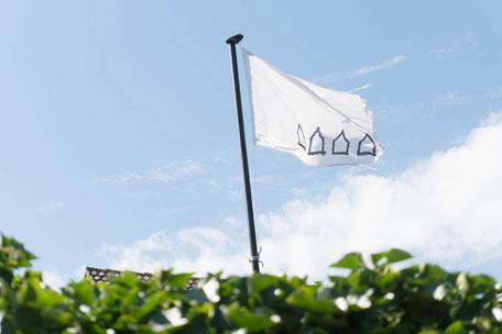 Vier Häuser auf der Insel Norderney