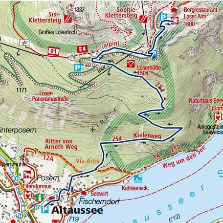 Weg direkt vom Landeplatz zum Paragleiter Hauptstartplatz Augstsee (Süd-Ost)