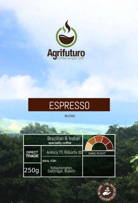 Ein Espressoblend aus verschiedenen Spezialitätenkaffees.