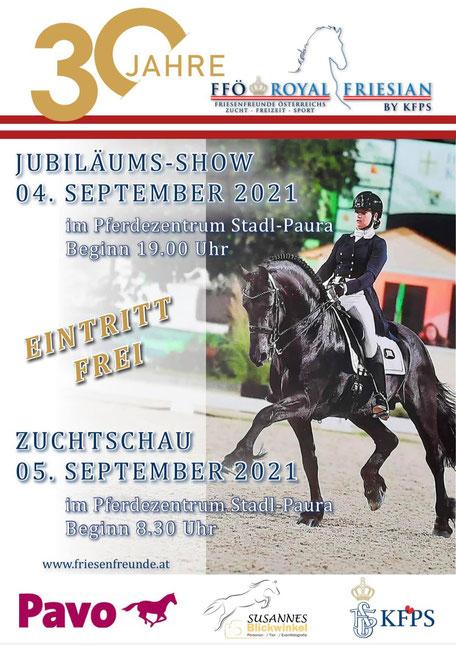 Jubiläumsshow Friesenfreunde Österreich Plakat