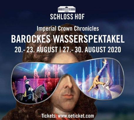 Werbung Barockes Wasserspektakel 2020