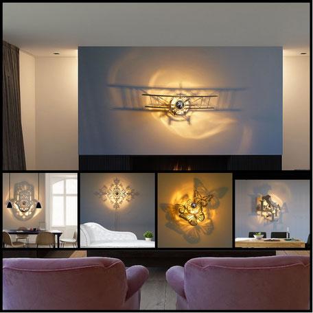 applique luminaire baroque orientale aviation animaux newyork