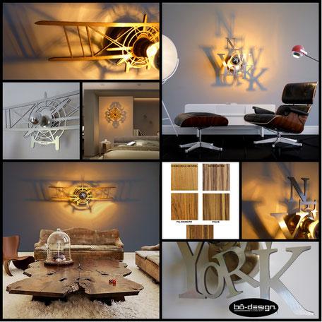 luminaire design, décoration murale luxe