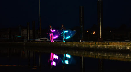 Night SUP in der Surfschule Rerik