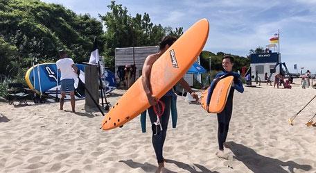 Surfen lernen im Wellenreitkurs in Kühlungsborn