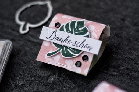 Stampin Up Schmetterlingsglück stempelnd durchs Jahr Goodie Verpackung basteln Stempeln selbermachen Designerpapier