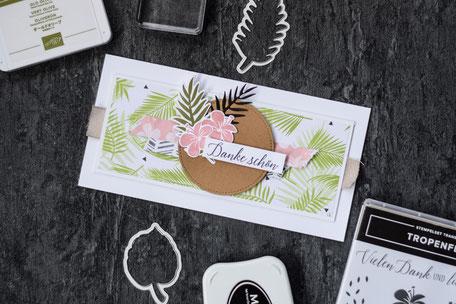 Stampin Up Tropenflair Produktpaket Stempelnd durchs Jahr Grußkarte Dankeschön Designerpapier
