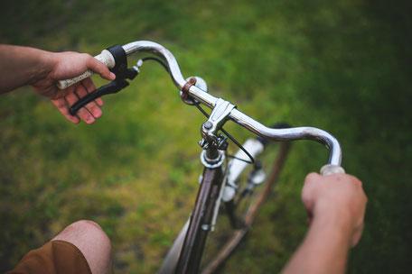 Während der Zeit der Nachschulung muss man oft auf das Fahrrad zurückgreifen.