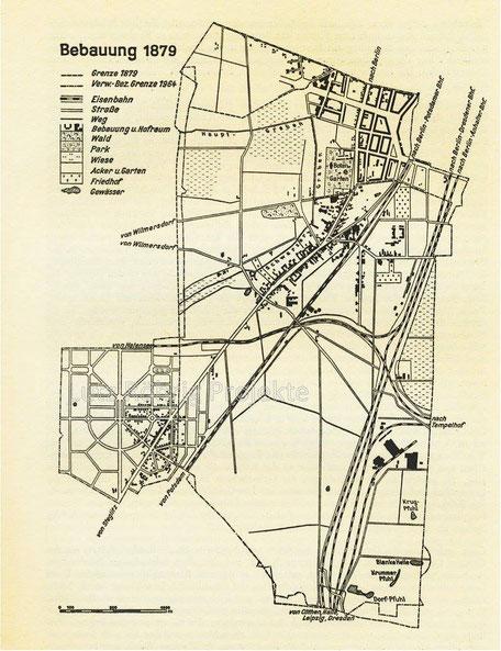 Karte Schönebergs von 1879.