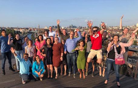 JCI Brussel op het dak van COOP, tijdens ons jaarlijks zomerevent