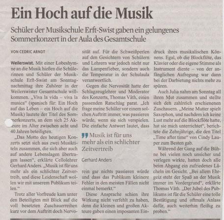Kölner Stadt-Anzeiger 12. Juli 2017