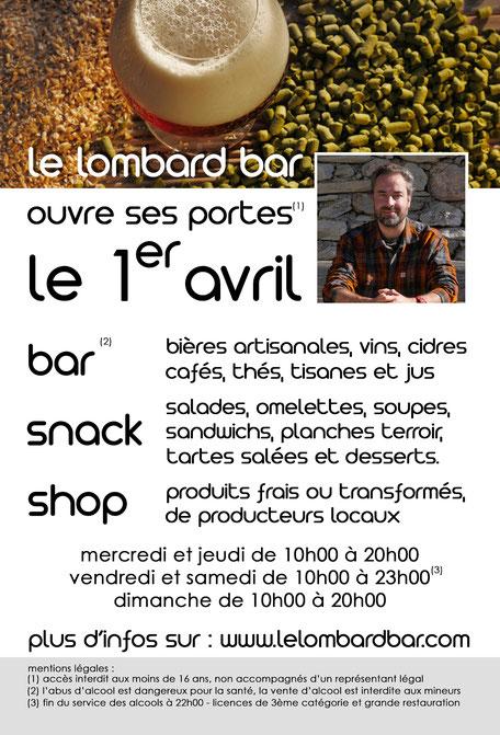le lombard bar - le long barbare - bière artisanale du jura - boutique du terroir - producteurs locaux