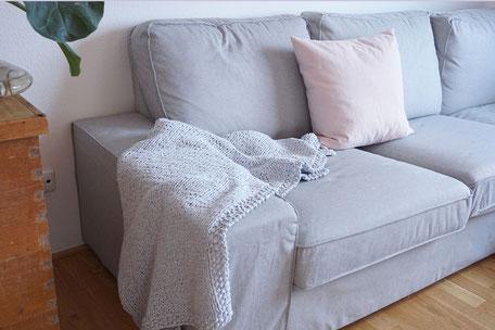 Strickset Textilgarn Plaid Decke Wooltwist