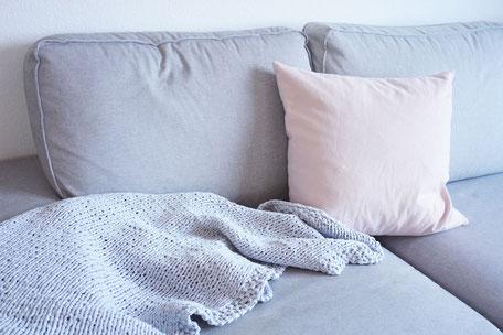 Decke aus Textilgarn stricken mit wooltwist