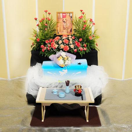 花祭壇30,000円|愛犬・愛猫・ペット火葬「はなの園」引取り・代行・葬儀・供養、埼玉県越谷市