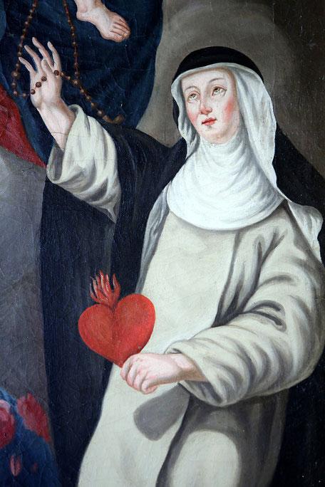 Sainte-Catherine de Sienne. Autel du Rosaire. Eglise Notre-Dame de l'Assomption. Cordon.