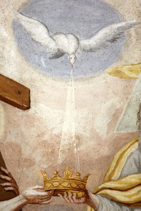 Le Couronnement de Marie. Eglise Notre-Dame de l'Assomption. Cordon.