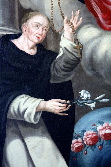 Saint-Dominique. Autel du Rosaire. Eglise Notre-Dame de l'Assomption. Cordon.
