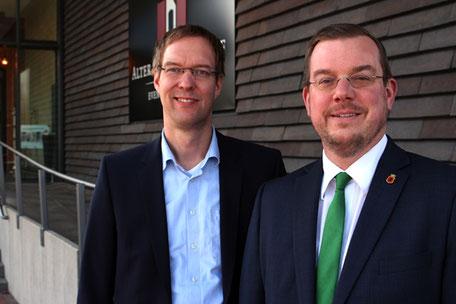 Hermann Wocken, Bürgermeister der Samtgemeinde Dörpen und Jan Peter Bechtluft, Bürgermeister der Stadt Papenburg