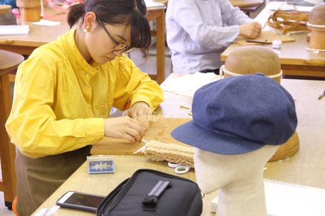 帽子の学校 サロン・ド・シャポー学院 カリキュラムに沿って製作