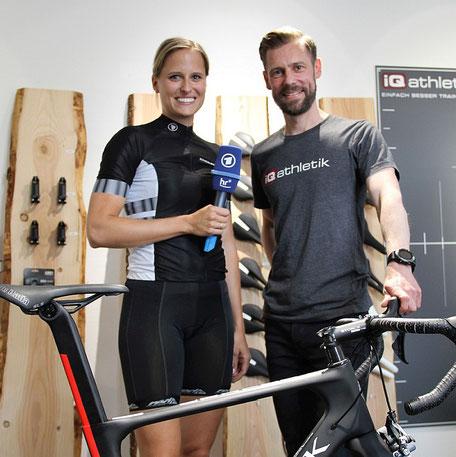 Bericht über Bikefitting im hr Fernsehen mit iQ athletik