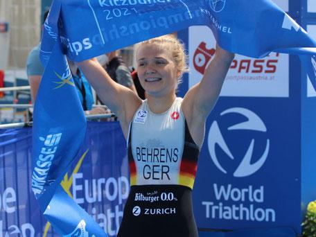 ule Behrens Triathlon-Europameisterin Supersprint-Distanz Juniorinnen