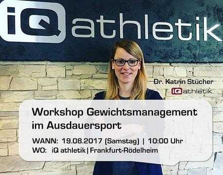 Workshop Gewichtsmanagement mit Dr. Katrin Stücher am 19.08.2017