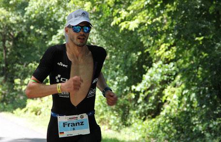 Franz Löschke beim Ironman Frankfurt