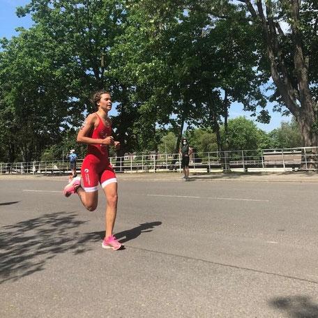 Lisa Tertsch, deutsche Meisterin im Triathlon 2021