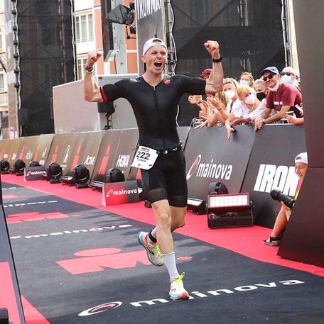 Torben Müller von iQ athletik beim Ironman Frankfurt