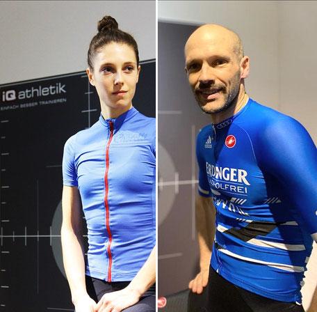 Julia und Patrick Lange im Trainingsinstitut iQ athletik