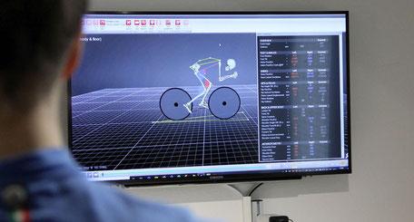 3D-Analyse der Tretbewegung auf dem Fahrrad
