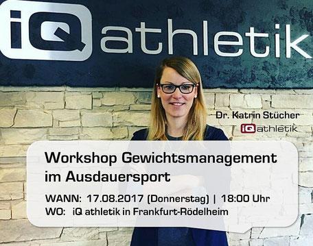 Workshop Gewichtsmanagement mit Dr. Katrin Stücher am 17.08.2017