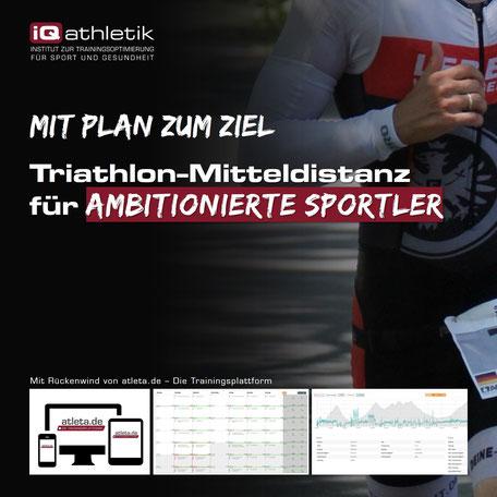 Triathlon-Trainingsplan für ambitionierte Sportler auf der Mitteldistanz
