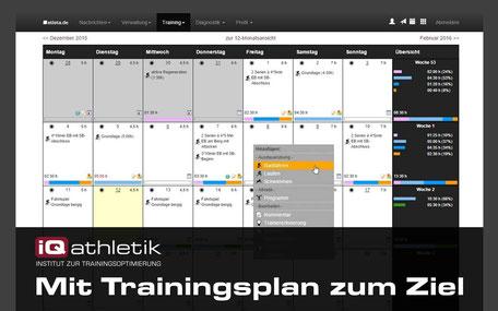 Trainingsplanung für Radsport, Triathlon und Laufen