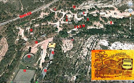 """Les hébergements, les espaces équestres, les lieux de tir à l'arc au gîte """"Les roche"""" à Forcalquier 04300 PACA"""