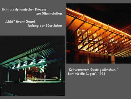 Lichtkinetik_Kunst am Bau_Stadt München_Kulturzentrum am Gasteig_Lichkunst_Bruno Kiesel_Lichtkünstler