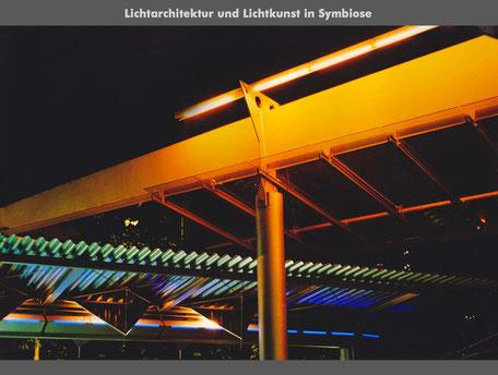 Lichtkinetik_Kunst am Bau_Stadt München_Lichkunst_Bruno Kiesel_Lichtkünstler