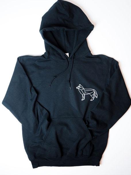 FOX HOODIE BLACK  25€