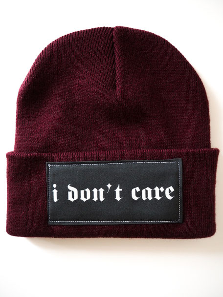 I DON'T CARE BEANIE 17,95€