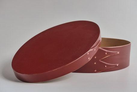 Shaker oval box farbig