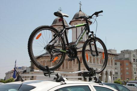vélo sur le toit