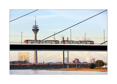 Oberkasseler Brücke in Duesseldorf