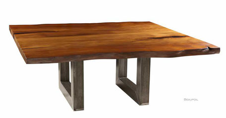 Conference table, exclusive tree trunk table of Ancient Kauri wood, individual massive natural single piece, unique high quality Designer table
