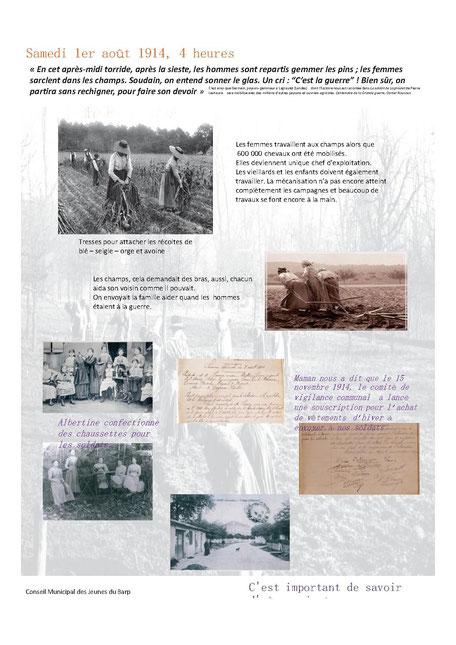 La vie au Barp il y a 100 ans - 2 - Réalisé par le Conseil Municipal des Jeunes