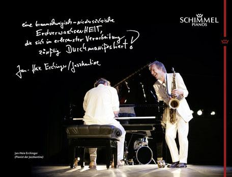 Konzert von der Jazzkantine am Flügel mit Pianist Jan-Heie Erchinger