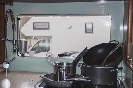 Kochen im Wohnmobil, Camping Küche